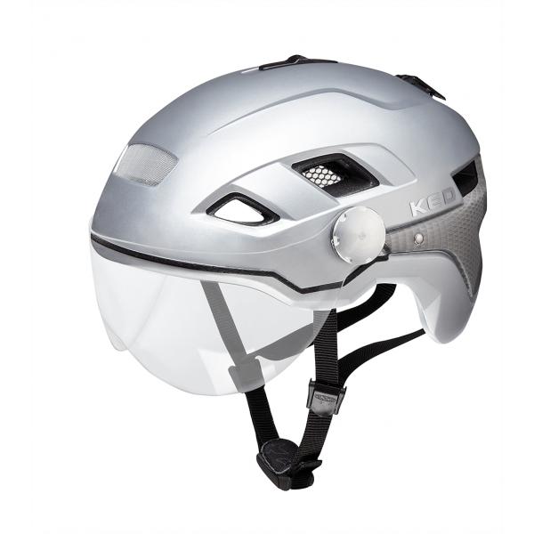 B-Vis X-Lite Velohelm-Silver Matt-Grösse M (52-58 cm)