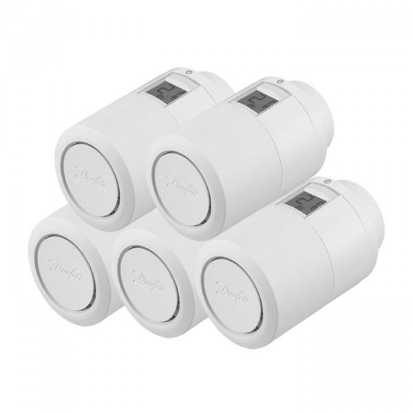 Heizkörperthermostat Danfoss Eco Bluetooth, 5er-Set