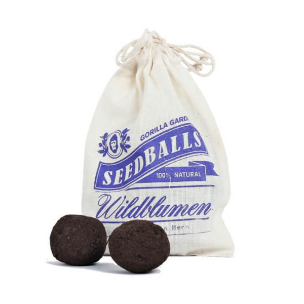 Wildblumen Seedballs im Baumwollbeutel