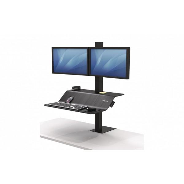 Fellowes TV-/Display-Standfuss Workstation Lotus VE Schwarz, 2 Monit.