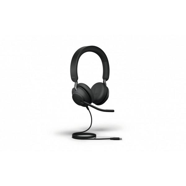 Jabra Headset Evolve2 40 Duo UC Schwarz, USB-C