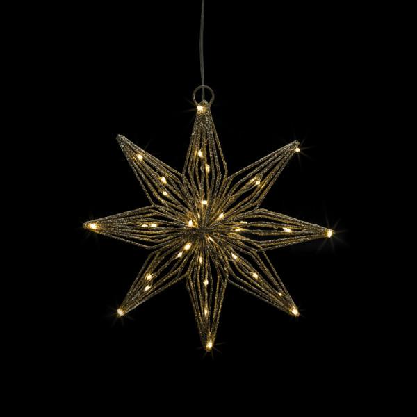 Svenja LED-Glitter-Stern S gold D22cm