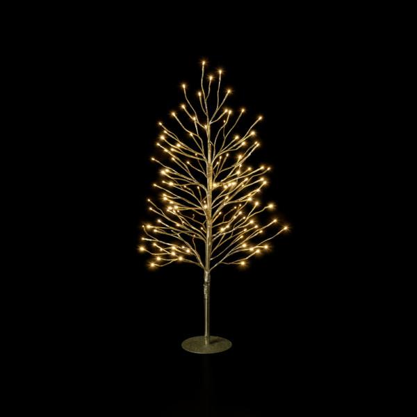 Leuchtender Deko-Baum gold S H90cm