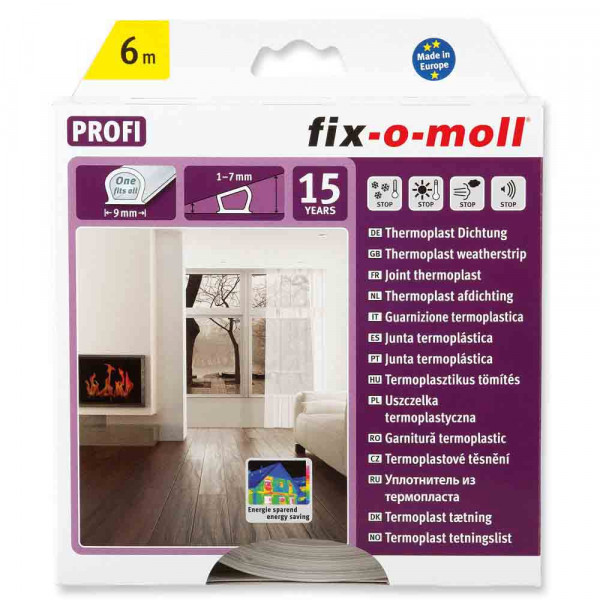 Fix-o-moll Thermoplast Dichtung, 6m, transparent