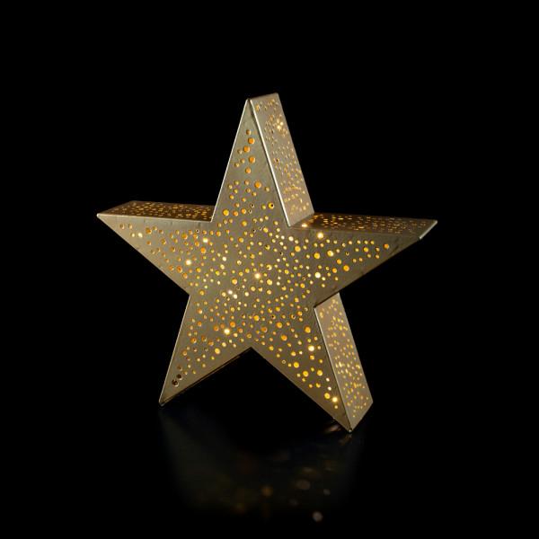 Metall-Stern gold